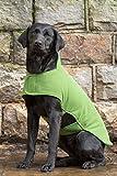 Dog & Field - Cappotto in spugna a doppio strato, L, colore: Verde chiaro