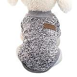 Idepet - Maglione per animali domestici, Grigio, L